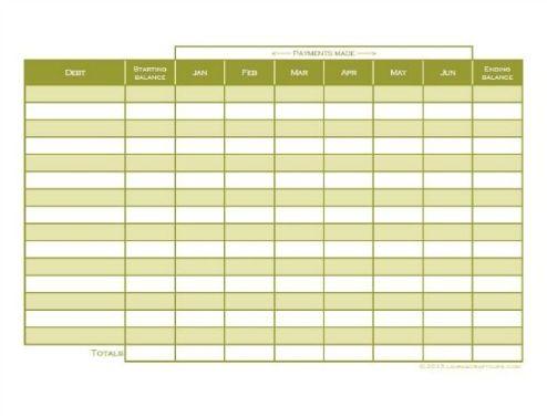Bill tracking worksheet Credit: laurascraftylife.com